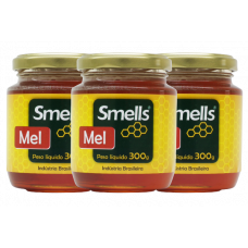 Kit com 3 Potes de Mel Natural 300g